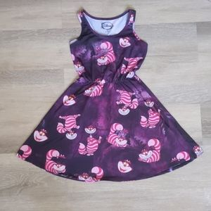 😻Disney Cheshire Cat Skater Dress Junior Small😻